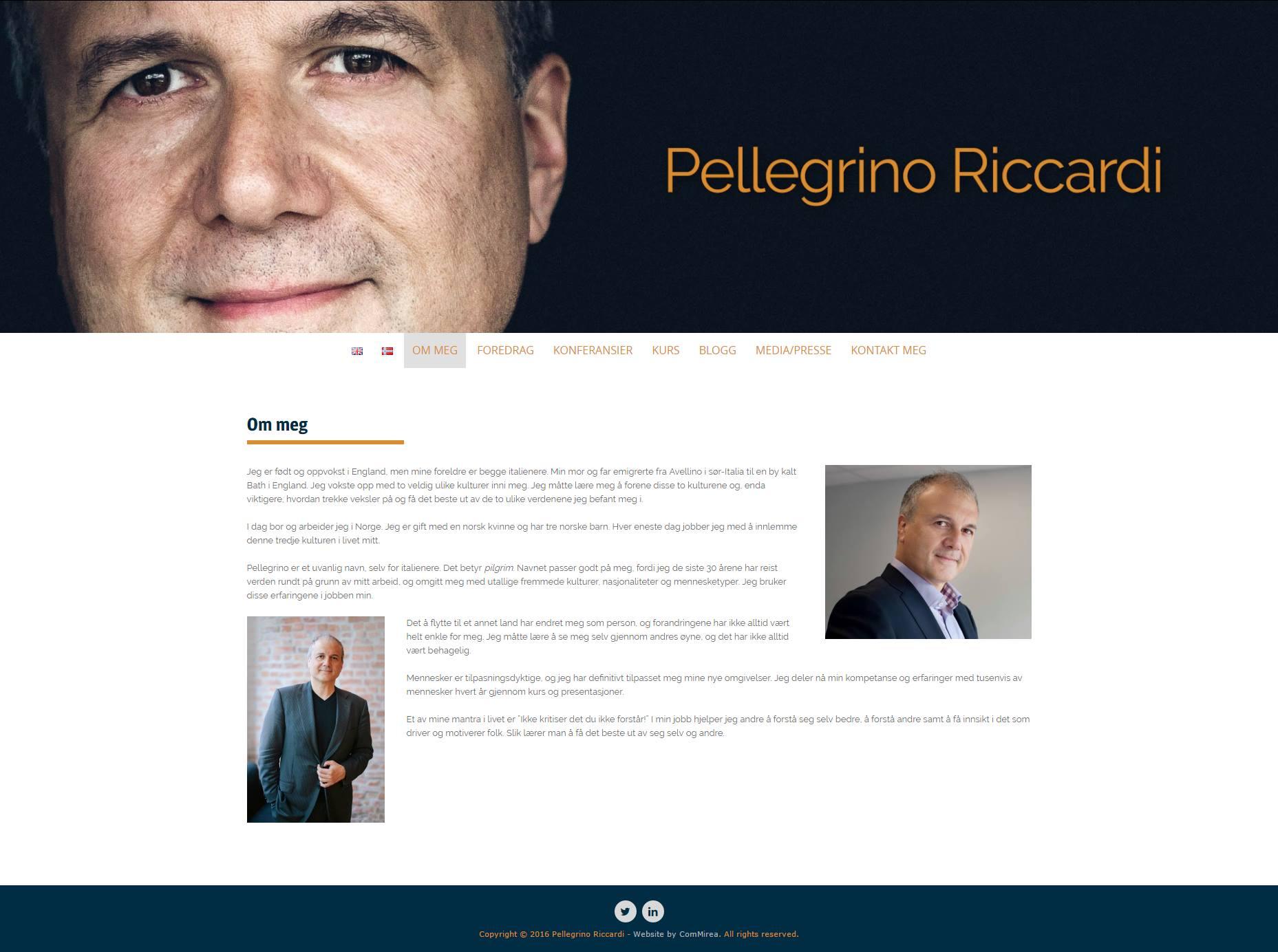 Nettside for Pellegrino Riccardi 1 - Marie Elena Mathisen