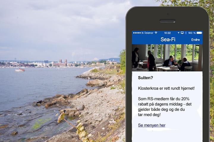 Eksempel Beacon-kampanje - Klosterkroa - SeaFi