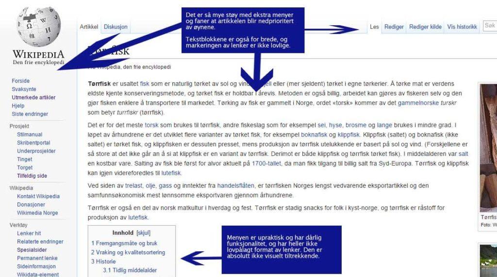 Analyse av nettstedet Wikipedia 3